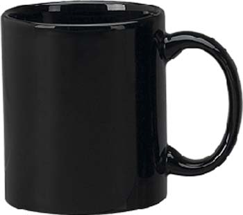 11 oz c - handle mug, black-vitrified