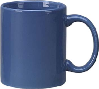 11 oz c - handle mug, light blue-vitrified