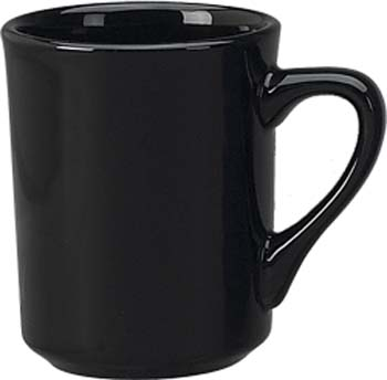 8 1/2 oz   toledo mug, black - vitrified