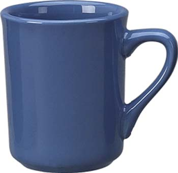 8 1/2 oz   toledo mug, light blue - vitrified