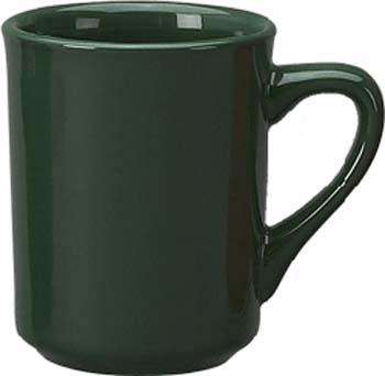 8 1/2oz   toledo mug, green - vitrified