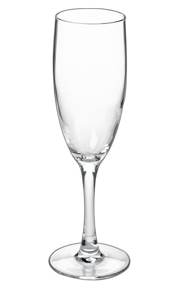 5.75 oz nuance clear stem champagne flute - MADE IN USA