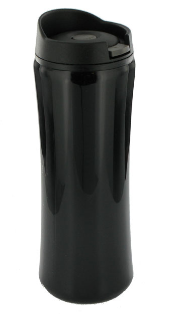 14 oz clicker travel mug - black