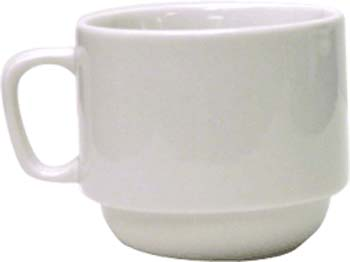 7 oz  dover porcelain rolled edge stackable cup