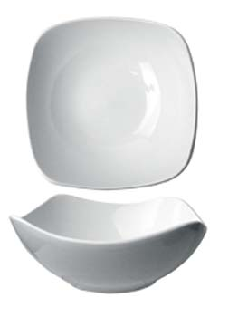 46 oz quad fine porcelain   square bowl