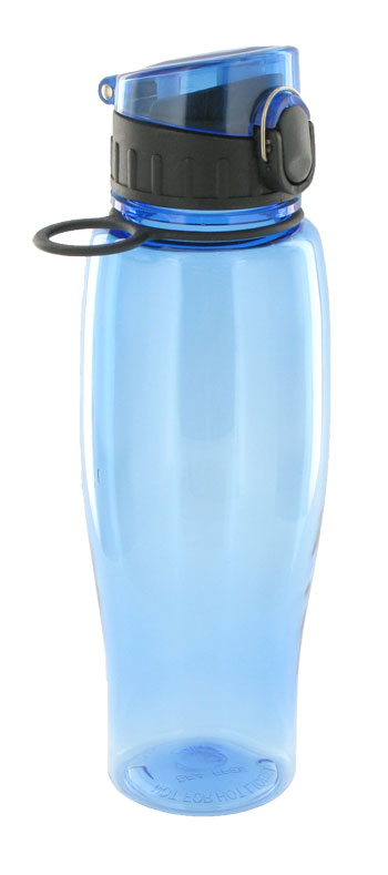 24 oz quenchers sports bottle - light blue