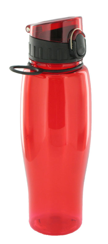 24 oz quenchers sports bottle - red