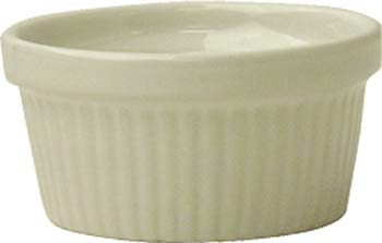 2 oz fluted american white ramekin - Oven Safe