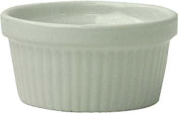 2 oz fluted european white ramekin - Oven Safe