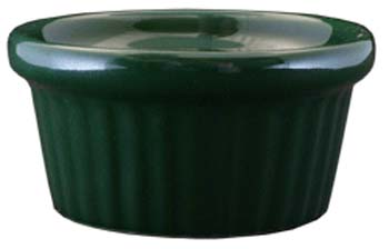 2 oz fluted green ramekin