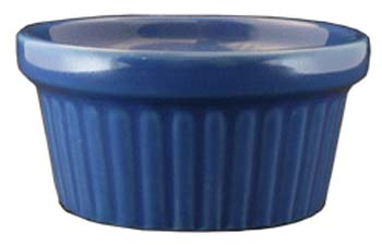 2 oz fluted light blue ramekin