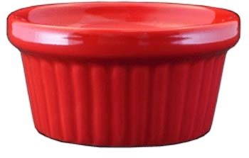 2 oz fluted red ramekin