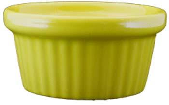 2 oz fluted yellow ramekin