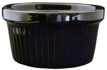 4 oz fluted black ramekin