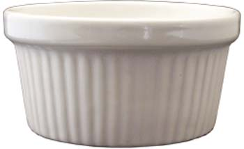 4 oz fluted european white ramekin