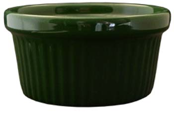 4 oz fluted green ramekin