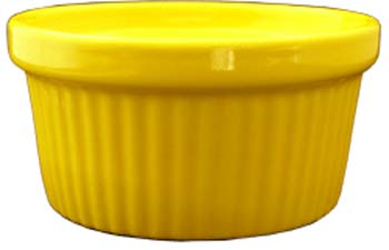 4 oz fluted yellow ramekin