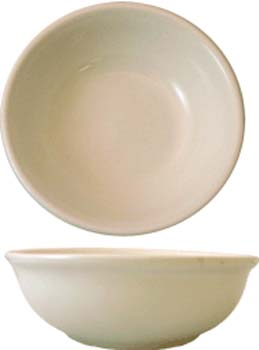 16 oz roma american white ivory rolled edge  oatmeal bowl