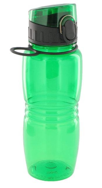 17 oz splash sports bottle - green