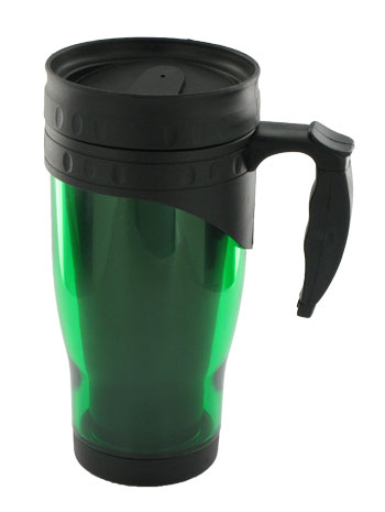 16 oz traveler travel mug - green
