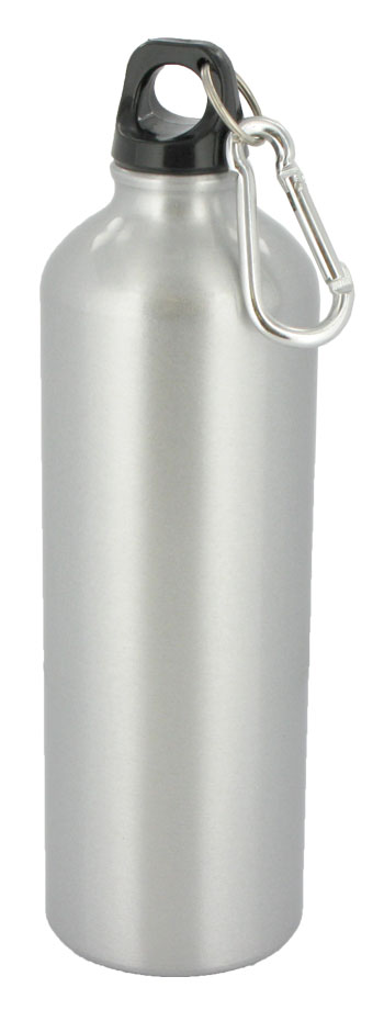 25 oz trek aluminum sports bottle - silver