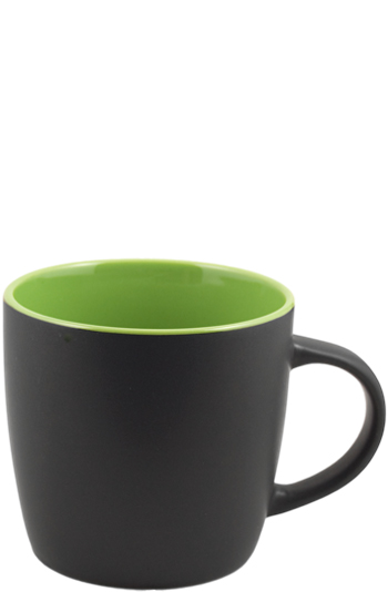12 oz effect matte finish mug - black/lime green