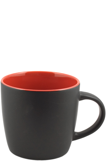 12 oz effect matte finish mug - black/red