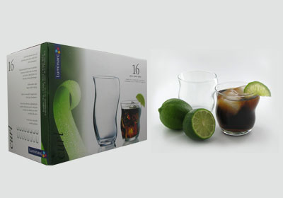 16 pc. curl juice glasses