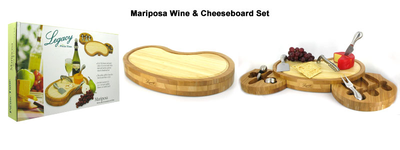 mariposa wine & cheeseboard set
