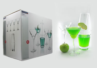 6-pc saga cocktail glass set