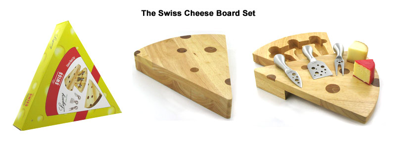 swiss cheese board set