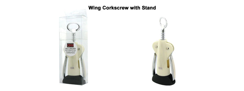 wing corkscrew with stand